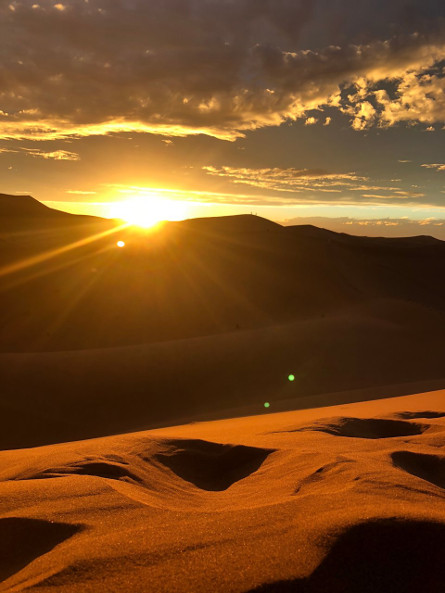The exquisite sunset of Erg Chebbi Merzouga in Morocco